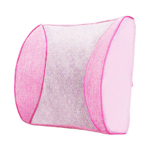 Lumbar Support Back Cushion Pillow Backrest for Home/Office/Car Seat/Chair Pink