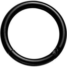 Black All Acrylic UV Reactive Segment Ring CBR Universal Body Jewellery