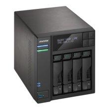 ASUSTOR AS6204T 4-Bay NAS Enclosure (No Drives), Quad Core CPU, 4GB DDR3L, HDMI, USB3, LCD Screen