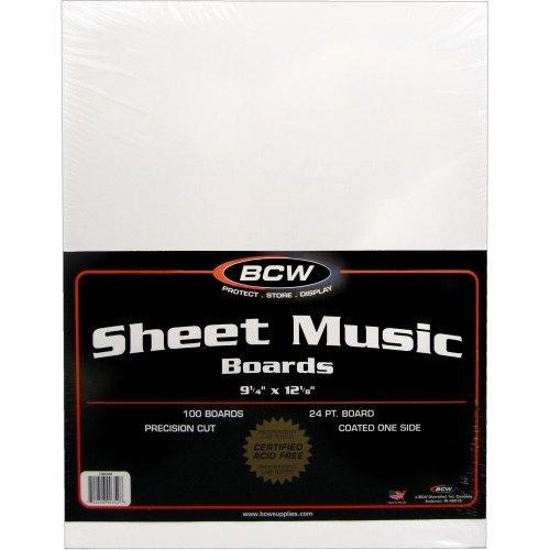 100 Sheet Music Size Backing Boards / Backers (9-1/4 x 12-1/8) - Protect Sheet Music From Bending! #MAIWSH