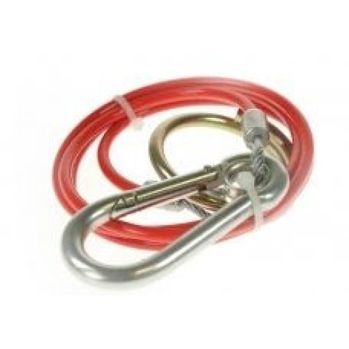 Breakaway Cable Pvc Red 1m x 3mm Dp - Maypole Mp501 Coated Plastic -  cable breakaway red maypole pvc 1m x 3mm mp501 coated plastic