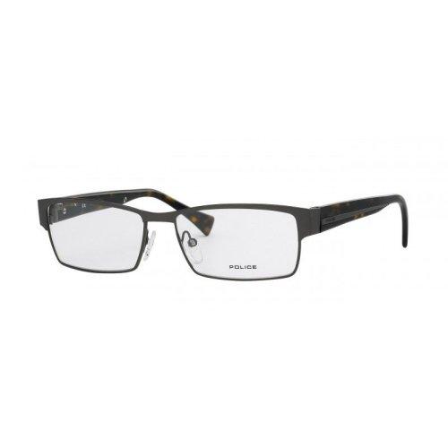 Police Designer Glasses V8714 Shiny Gunmetal