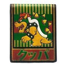 NINTENDO Super Mario Bros. Bowser Kanji Bi-Fold Wallet Green (MW1PX3SMB)