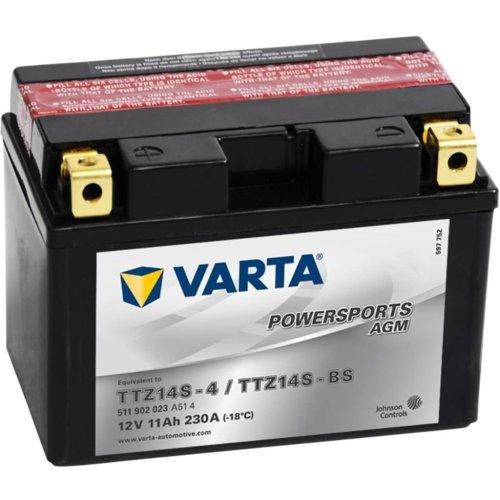 Varta Motorcycle Battery Powersports AGM TTZ14S/TTZ14-BS