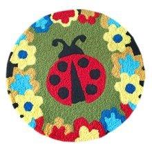 [Ladybug] Children Bedroom Decor Rug Embroidered Mat Cartoon Carpet,23.62x23.62 inches