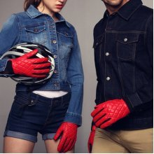 Men Women Couple Windproof Driving Gloves Coral Fleece Linen Cycling Bike Outdoor Mittens