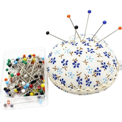 Wrist Wearable Pin Cushions and 50 Pins Set for Needlework - 04