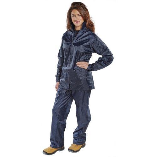 Click NBDSN4XL Nylon Waterproof Jacket and trousers Navy Blue 4XL