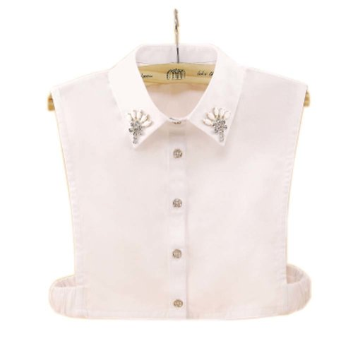 Elegant Women's Fake Half Shirt Blouse Collar Detachable Collar, #02
