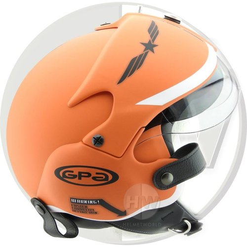 Open Face Scooter Helmet Osbe Gpa Aircraft Tornado Orange Army S 55-56 Cm