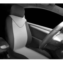 Black Grey 2 Piece Front Seat Cover Set - Sumex Fund95g Universal Single -  sumex fund95g universal single front seat cover set unicorn black grey