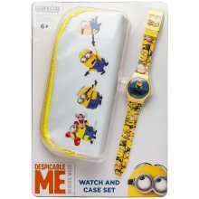 Minions Digi Watch And Purse Set -  officially licensed minions digital watch case gift set