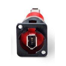 Switchcraft Cross Wired Firewire Coupler Black