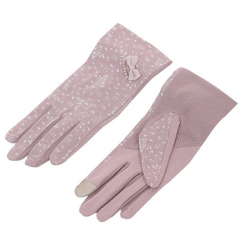 Women Cycling Gloves Bicycle Riding Gloves Pearl Butterfly Bike Gloves Purple