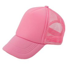 Children Breathable Sports Cap Baseball Cap Mesh Hat Fitted Caps, Pink