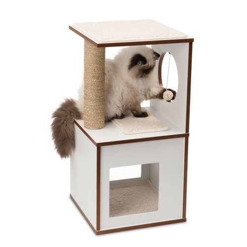 Vesper Cat Furniture V Box Small White 37x37x72 5cm On Onbuy