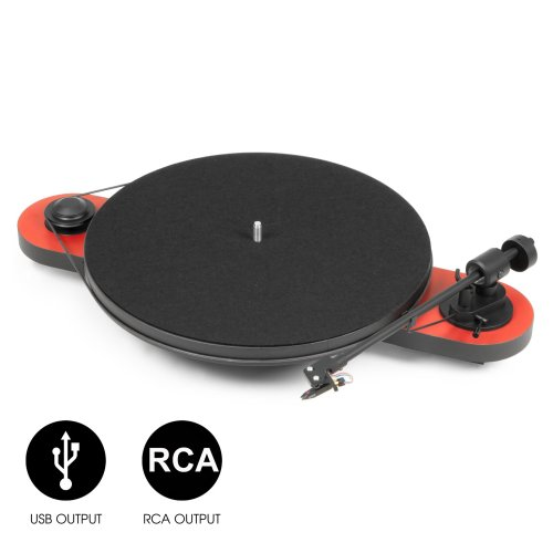 Pro-Ject Audio Systems Elemental Phono USB Hi-Fi Turntable - Red