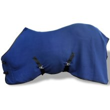 Fleece Rug with Surcingles 115 cm Blue