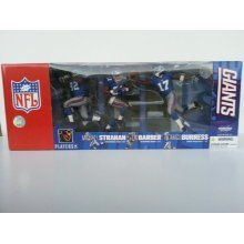McFarlane Toys NFL Sports Picks Action Figure Exclusive New York Giants 3-Pack Tiki Barber, Michael Strahan & Plaxico Burress
