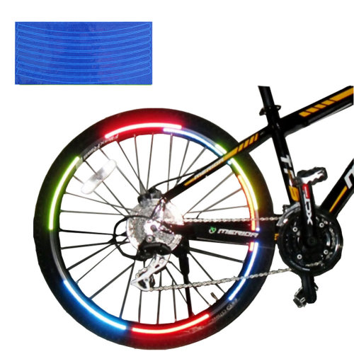 [BLUE]Unique Colour 6 Pics Reflective Bike Rim Sticker Wheel Decal Sticker