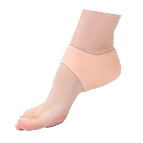 Khaki Silicone 3 Pair Heel Spur Heel Protector For Sore Foot Pain Relief