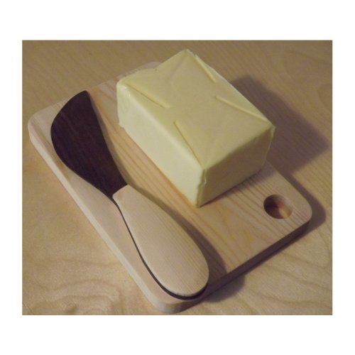 Swedish Butter Knife and chopping board - all wood construction - Handmade in UK