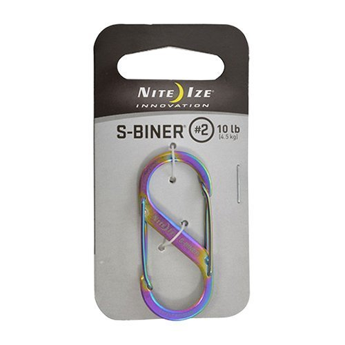 Nite Ize Size-0.5 S-Biner Dual Spring Gate Carabiner, Stainless, 2-Pack