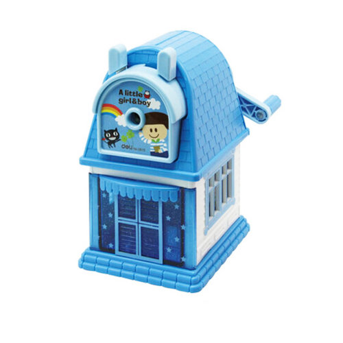 Kids Cute  Manual Pencil Sharpener For Classroom School Stationery,a little boy