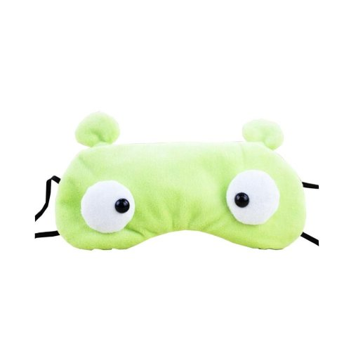 Creative Cartoon Eye Mask Funny Soft Eyeshade ye Mask Green