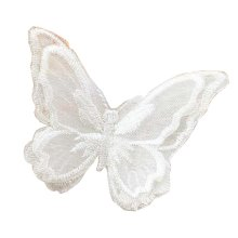 6 Pcs Exquisite Applique Patches Yarn Applique Embroidered Patches, Butterfly