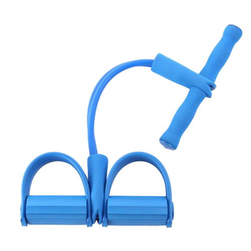 Fitness Equipment Crunches Chest Expander/Yoga Pedals Elastic Rope Blue