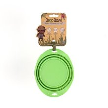 Beco Pets Travel Bowl, Small, Green -  beco bowl travel green friendly silicone dog collapsible water easy pet fold up small premium seller fast