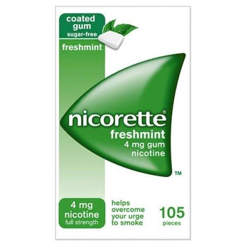Nicorette Freshmint Gum 4mg 105 Pieces