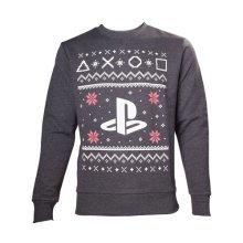 Sony Playstation Men's Logo Christmas Jumper, Medium, Grey (Model No. SW501235SNY-M)