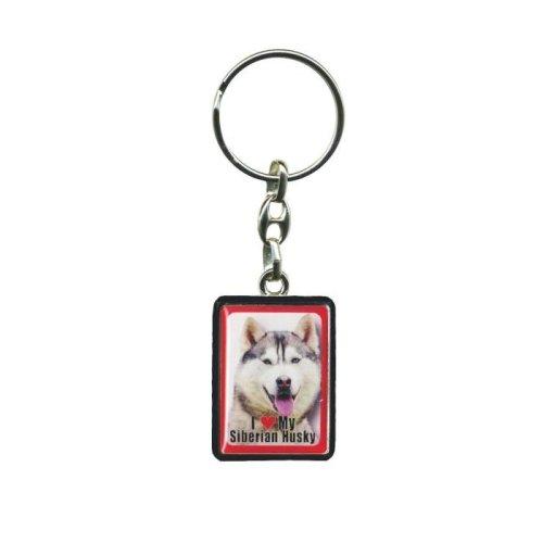 Siberian Husky Dog Keyring