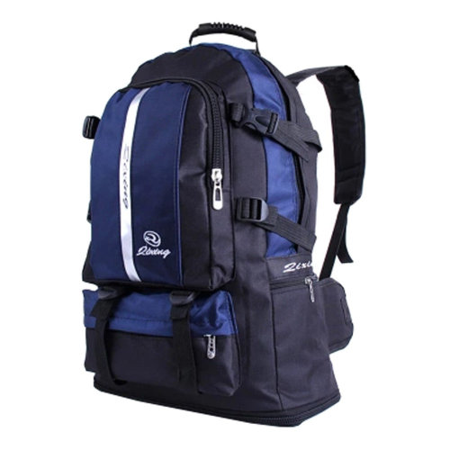 Classic College School Laptop Backpack Lightweight Nylon Travel Backpack Blue