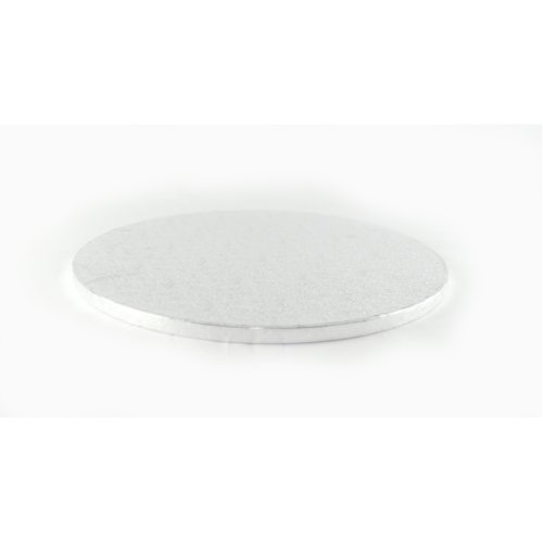 """14"""" Silver Round Cake Drum Board 12mm Thick"""
