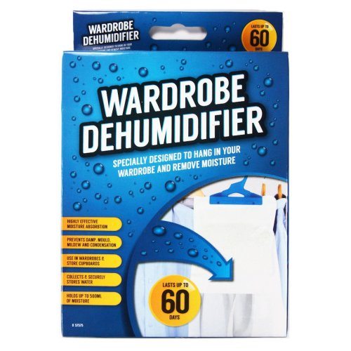 Wardrobe Hanging Dehumidifier Sachet 60 Days Prevent Damp