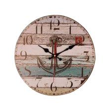 [Anchor] 14 Inch Vintage Wooden Wall Clock Decorative Silent Wall Clock