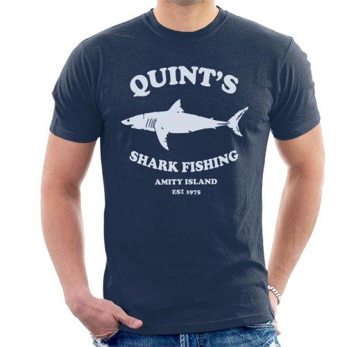 Quints Shark Fishing Amity Island Jaws Men's T-Shirt