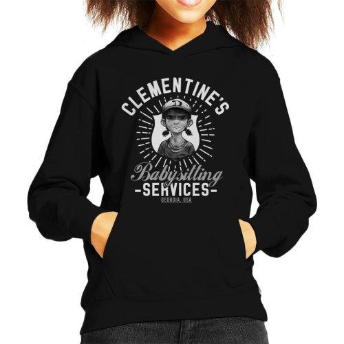 Clementines Babysitting Services Walking Dead Kid's Hooded Sweatshirt
