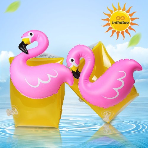 infinitoo Swimming Wings Child Cute Flamingo Figure Swim Aid for Baby Boys Girls   on pool party beach water park in summer   Super Gift in...