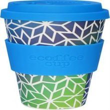Ecoffee Cup Organic Bamboo Fibre Reusable Coffee Cup Stargate with Sky Blue S (order 36 for Trade Outer)