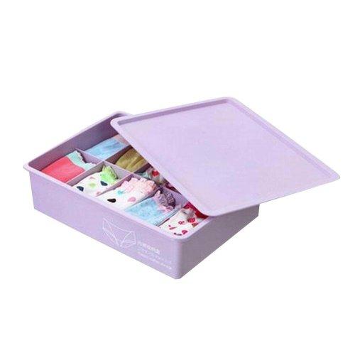 Elegant Purple Home Underwear/Socks Small Items Storage Box 10 Grids