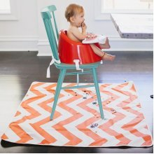 42x42' Chevron Coral Catch All Protective Floor Mat