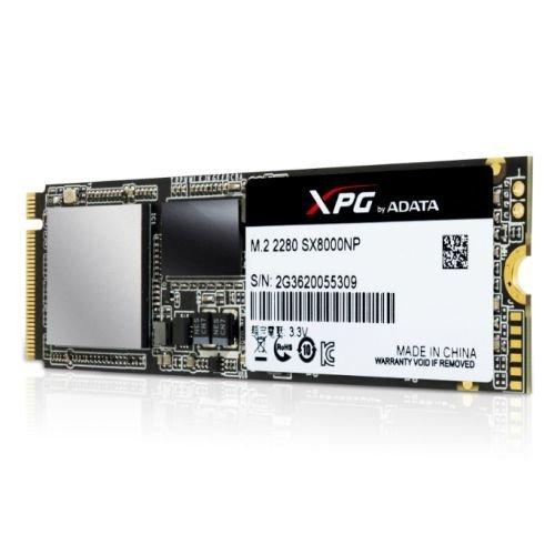 ADATA 128GB XPG SX8000 M.2 SSD, M.2 2280, PCIe Gen3x4, 3D NAND, R/W 1000/550 MB/s