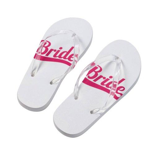 Bride Flip Flops Large