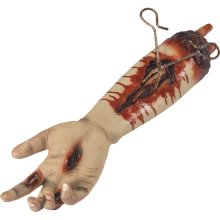 Animated Gory Severed Arm Prop, Pulsating - Prop Halloween Horror Fancy Dress -  animated gory severed arm prop halloween horror fancy dress accessory