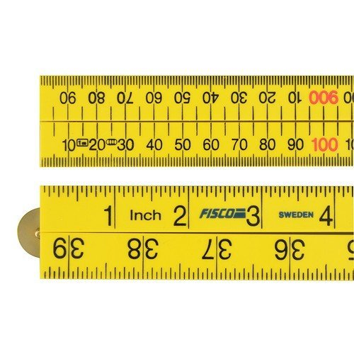 Fisco XFY-1ME Yellow ABS Nylon Rule 1m / 39in