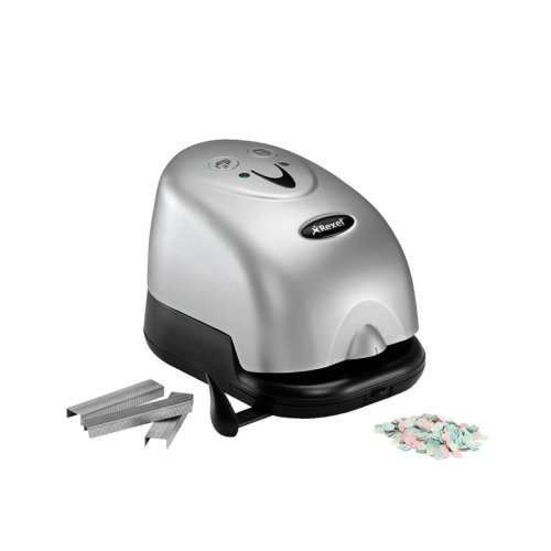 Rexel Polaris 1420 Electric Stapler & Punch Silver/Black stapler